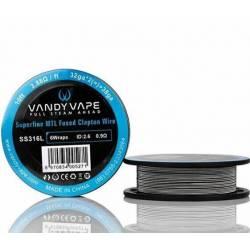 Vandy Vape SS316L Superfine MTL Fused Clapton Wire 32ga*2+38ga - 3m