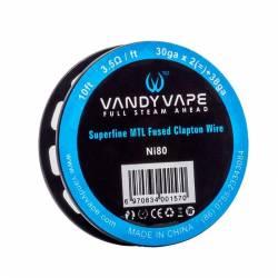 Vandy Vape Ni80 Superfine MTL Fused Clapton Wire 30ga*2+38ga - 3m