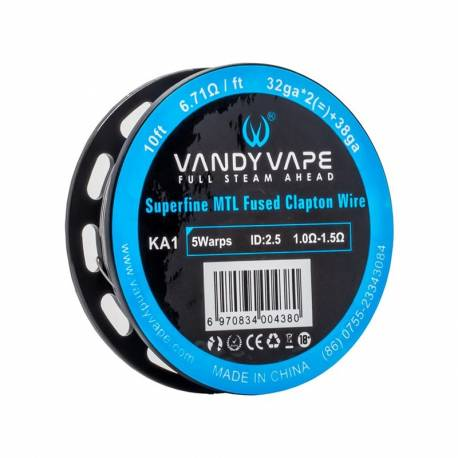 Vandy Vape KA1 Superfine MTL Fused Clapton Wire 32GA*2 +38GA -